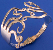 Spoonman Double Curled Fork Bracelet