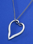 Spoonman Forktine Heart Necklace