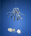 Octopus Windchime with Spoonfish and Squid