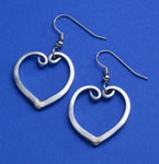 Forktine Heart Earrings