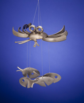 Crabby Windchime with Spoonfish Dangles