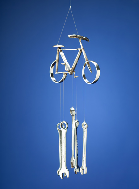 Bicycle Windchime - Click Image to Close