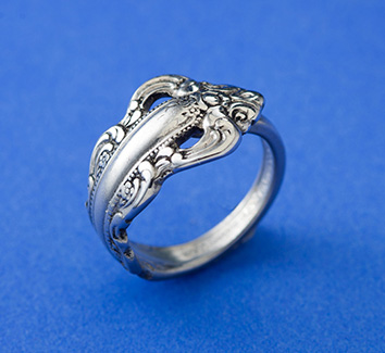 Southern Baroque Demitasse Spoon Handle Ring - Click Image to Close