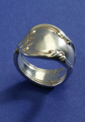 Sterling Spoon Handle Ring - Click Image to Close