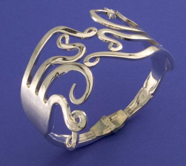 Double Curled Fork Bracelet - Click Image to Close