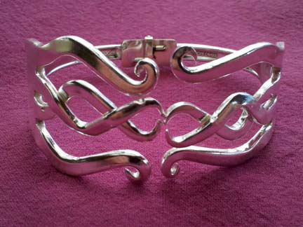 Celtic Style Double Curled Fork Bracelet