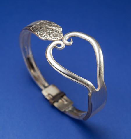 Fork Heart Bracelet - Click Image to Close