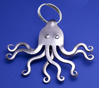 Octopus Keyring with Eyes!