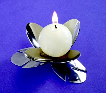 Lotus Flower Spoon Candle Holder