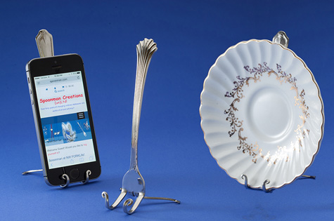 Fork Plate or Cell Phone Holder