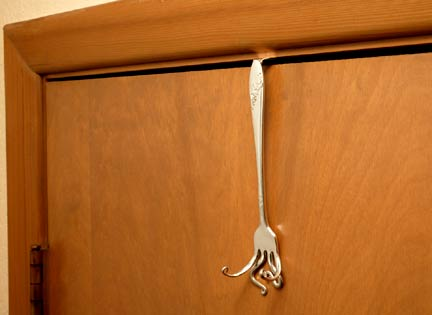 Over your Door Curled Fork