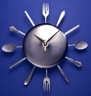 Clock With Straight Forks