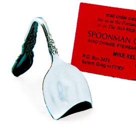 Spoon Business Card or Photo Holder